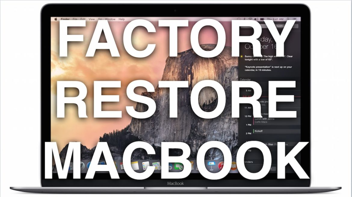 An image with text that reads how to reset a macbook air