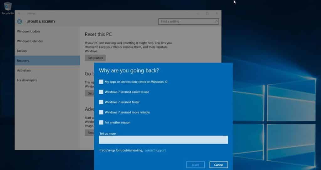 Quick & Easy Ways To Go Back To Windows 7 From Windows 10