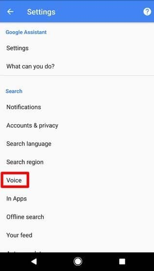 select voice in the Google App to turn off OK Goole