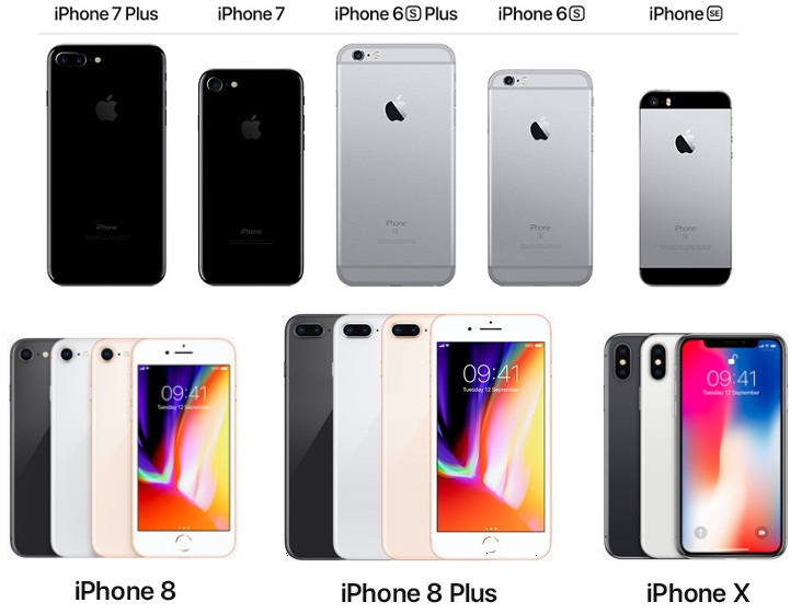 why does my iphone get hot - image of various iPhone smartphones, iphone gets hot