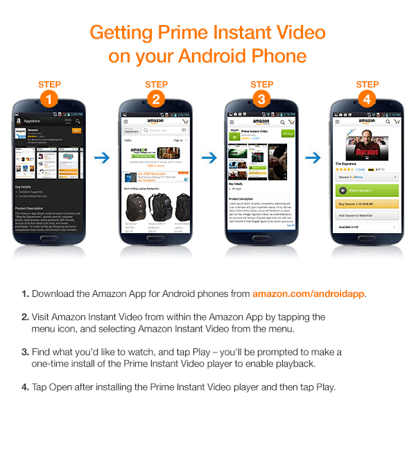 how to get Amazon Prime Video On Android