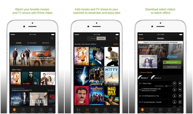 how to get amazon prime video on iPhone