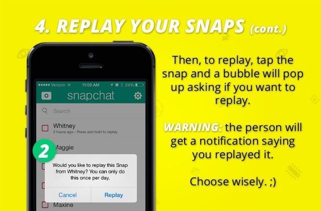 how to replay snapchat