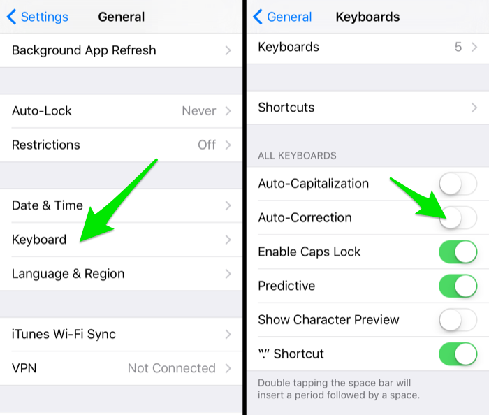 autocorrect settings iphone turn autocorrect on iphone turn on autocorrect on 10199
