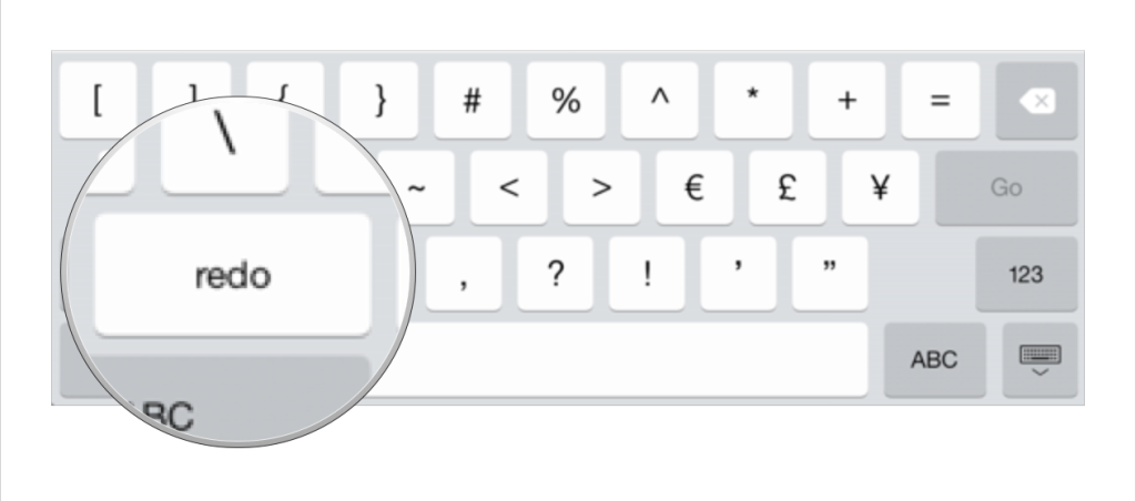 iPad redo button