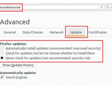 Disable Automatic Updates in Firefox