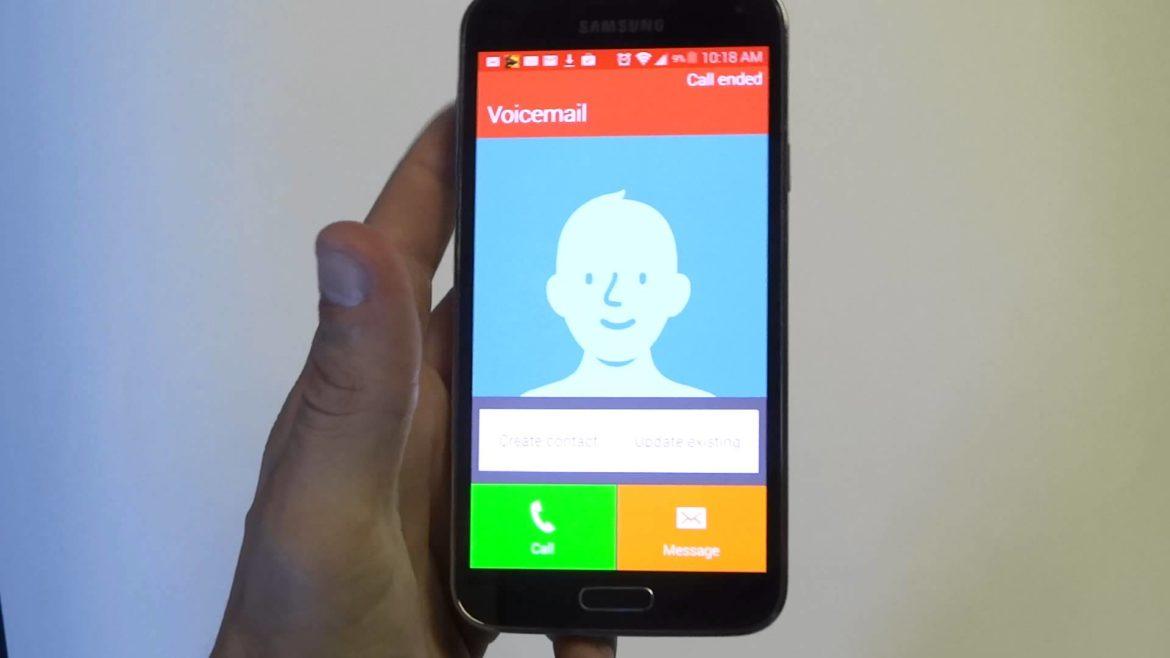 how to set up voicemail on samsung galaxy s5