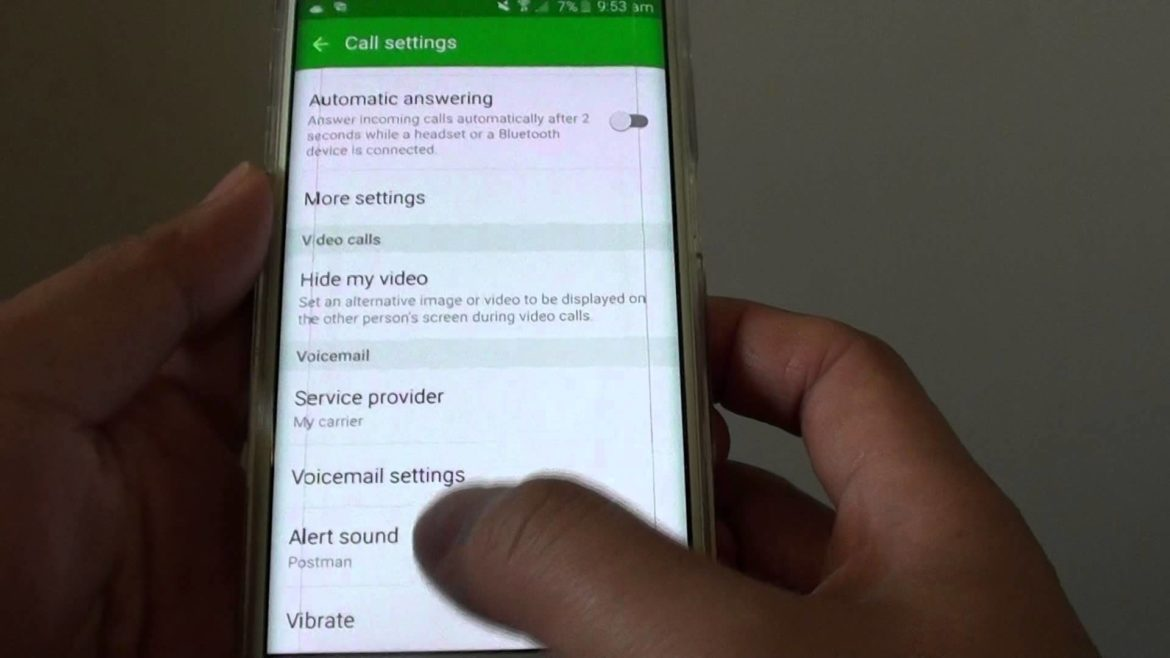 how to set up voicemail on galaxy s6