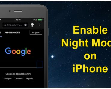 how to enable night mode on iphone ipad