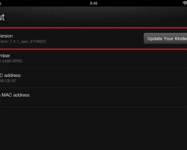 How To Find Kindle Fire MAC Address, Serial Number, OS Version