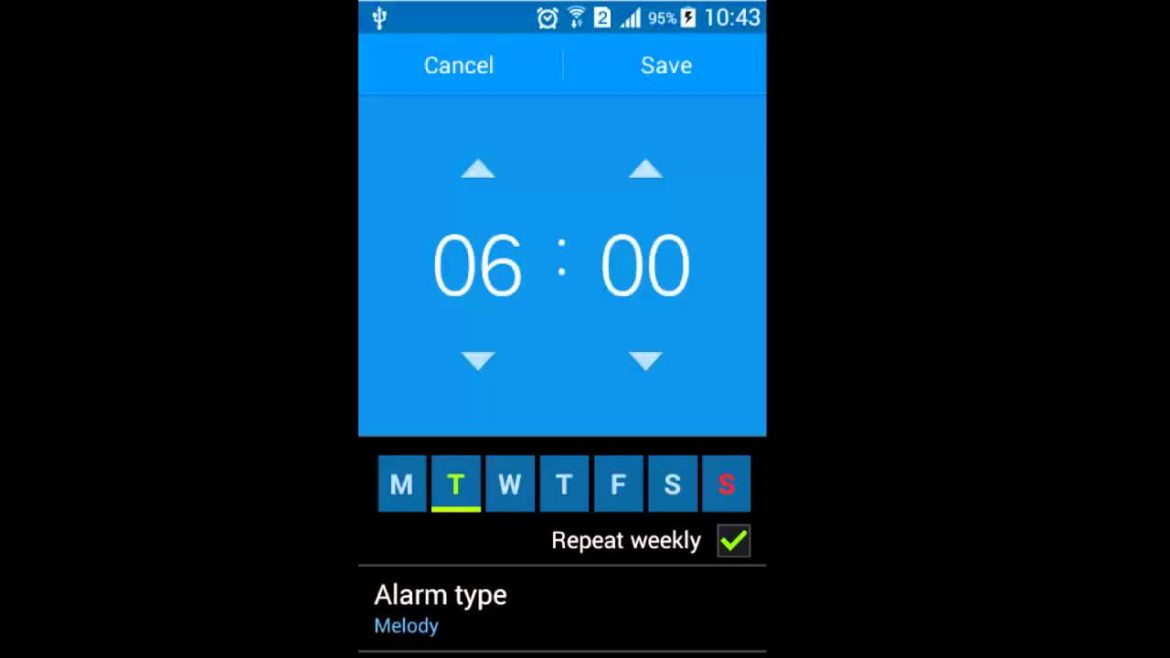 Alarm set android device