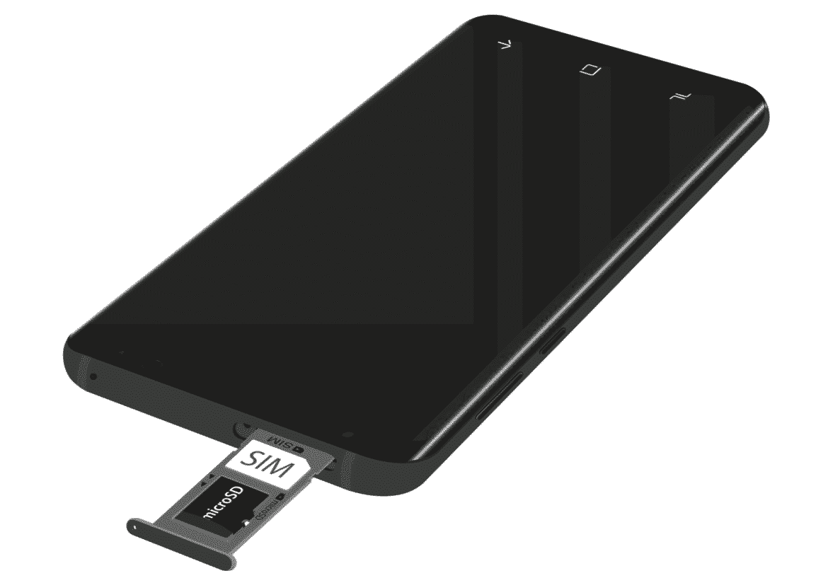 Galaxy S9 ejected SIM/SD Card Slot.