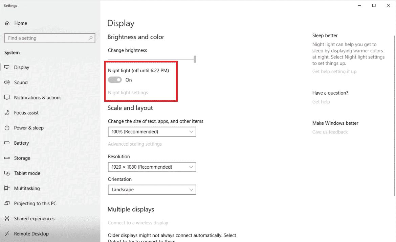 Windows 10 How To Turn On Night Light-Blue Light Filter