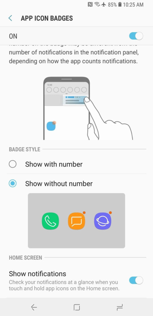 Show Notifications Without Numbers