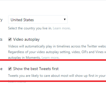 how to disable tailored tweets settings twitter filter