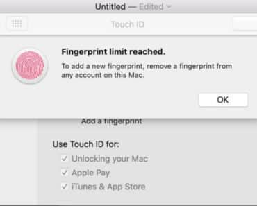 HOW TO FIX FINGERPRINT LIMIT REACHED ERROR ON MACBOOK PRO