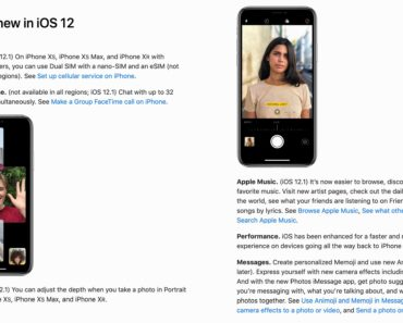 iOS 12.1 user guide, Apple publishes full iOS 12.1 iPhone user guide, confirming Group FaceTime, dual-SIM & more