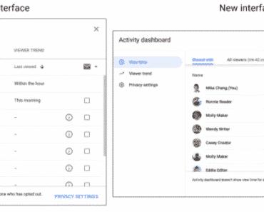 Google Docs Activity Dashboard Update Brings Google Material Theme