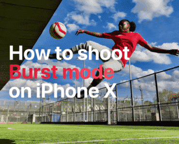 how to use iPhone burst mode to shoot burst images