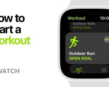 How To Do A Workout With Apple Watch Series 4