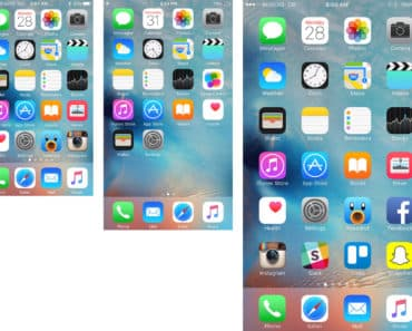 Image of iPhone screen sizes as part of an article titled 5 Easy Steps To Adjust iPhone iPad Display Zoom.