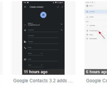 Google Contacts 3.2.4 Update Brings Dark Theme Mode