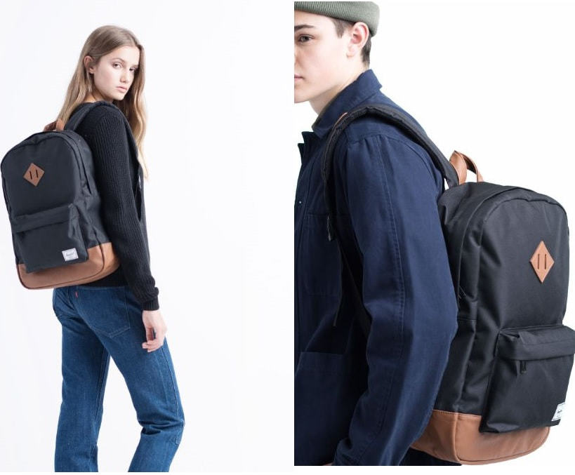 An image of Herschel Supply Co. Heritage Backpack - As featured in a list of the best college bags with laptop compartments.