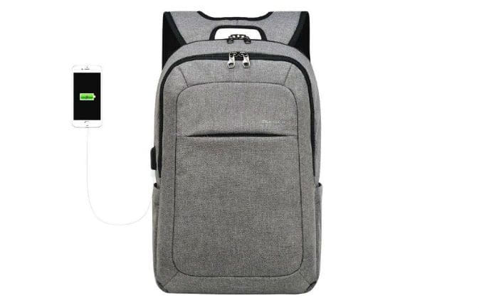 An image of the Kopack Slim Backpack with anti-theft laptop compartment. The image is part of a list of the 50+ Undeniably Savvy Laptop Backpacks For College Students.
