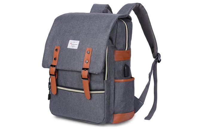 Modoker Vintage Laptop Backpack as attached to a list of top laptop backpacks for college students.