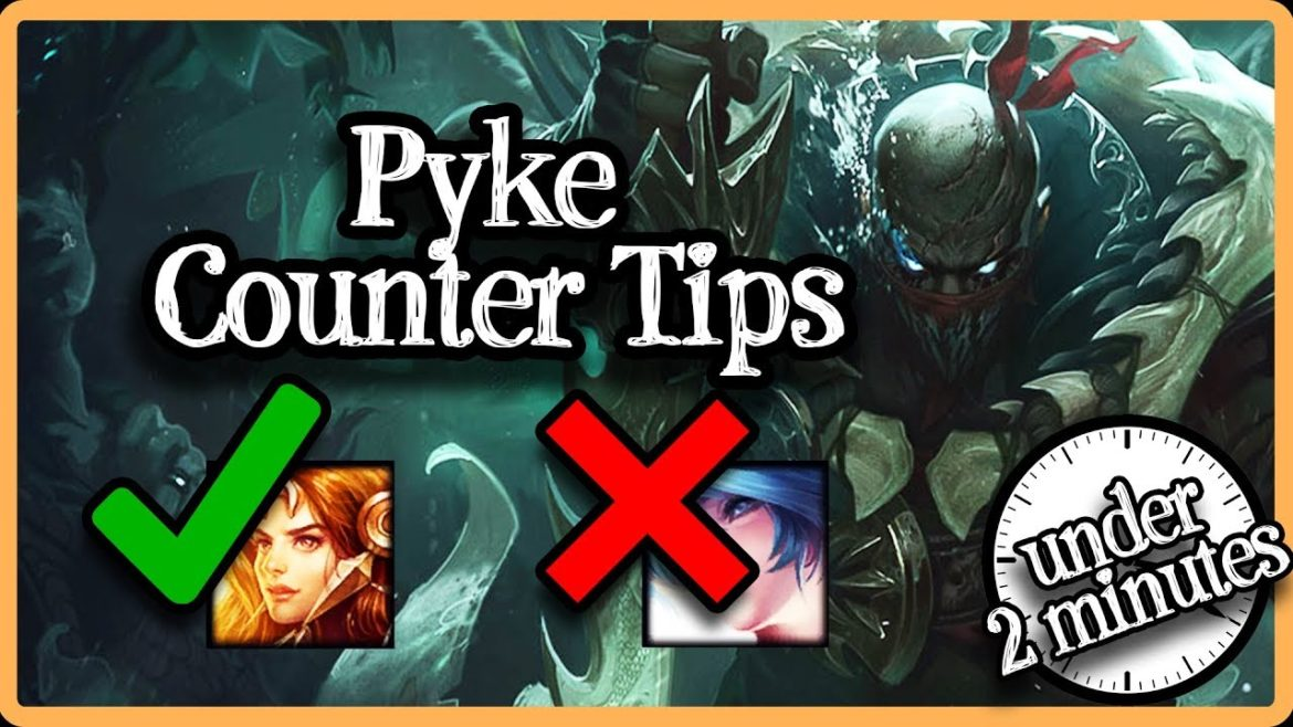 A tutorial on how to counter Pyke support, jungle, top, or other lane when playing League of Legends (LOL).