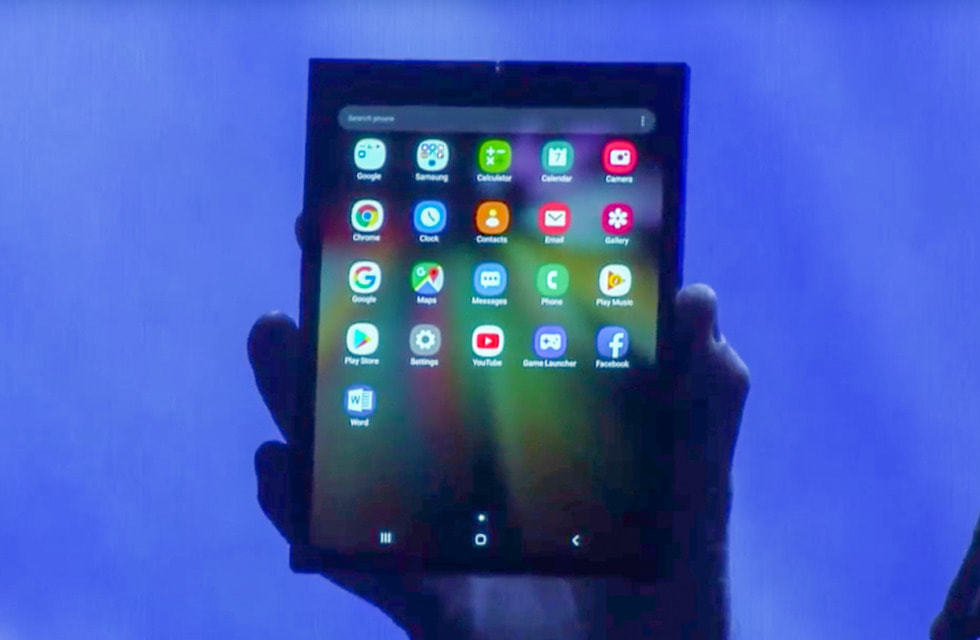 Samsung Announces Foldable Android Display Device 1