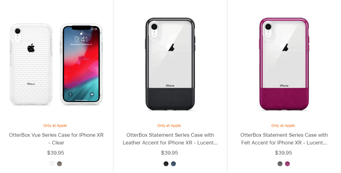 An image of Apple's iPhone XR Cases. This image is attached to an article that tells you where to buy the best iPhone XR cases.