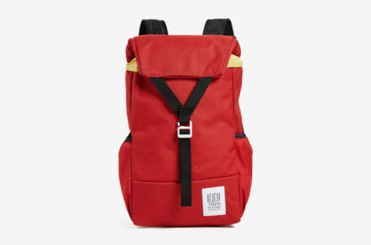 Topo Designs Y-Pack Backpack as seen in this image attached to an article of the best laptop bags for college students.