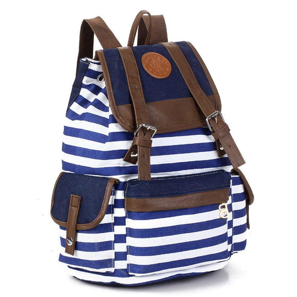 Unisex Canvas Backpack School Bag with laptop compartment. As seen as part of an article that discusses the top laptop backpacks for college.