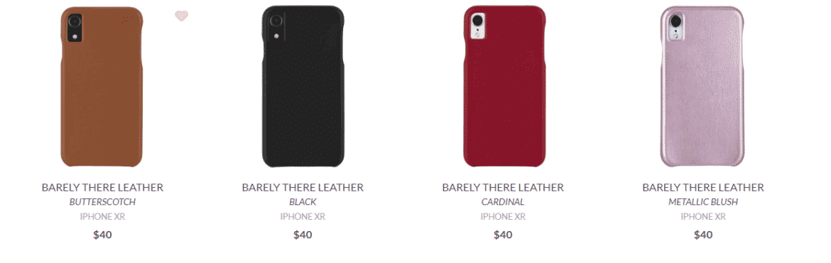 Another image of Leather casings for the iPhone XR offered by Case-Mate.