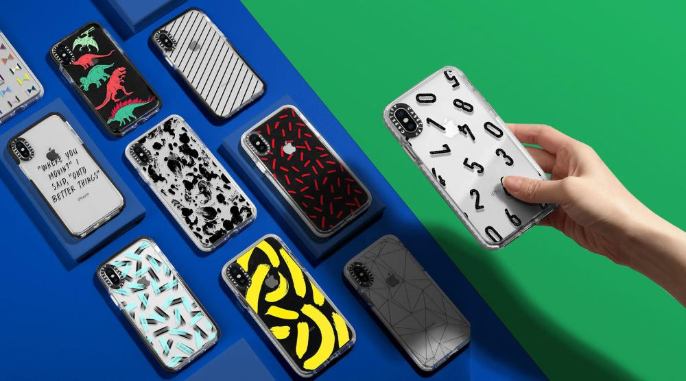 CASETiFY offers an amazinly beautiful collection of cases for the iPhone XS as seen in this image.