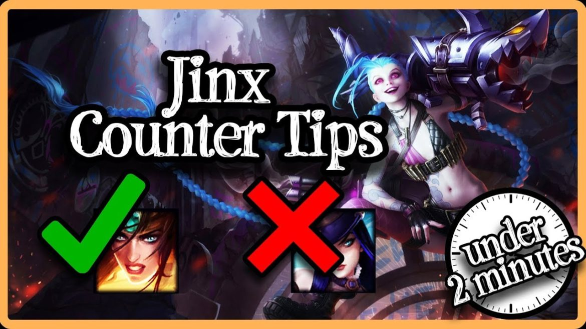 An image of Jinx attached to an article outlining ways on how to counter Jinx in any lane.