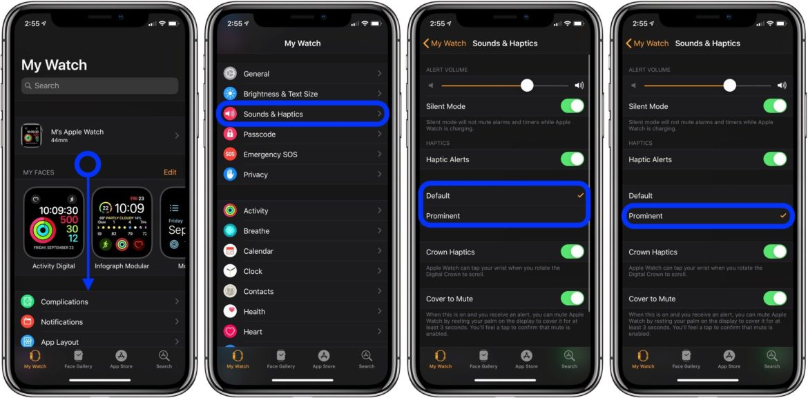 How To Turn Up Haptic Vibration Feedback On Apple Watch Using iPhone