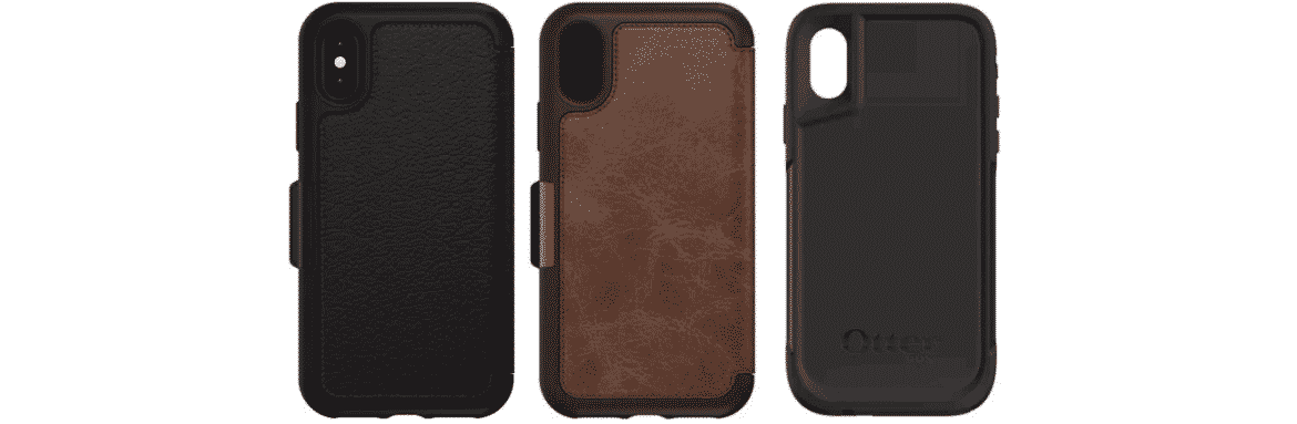 An image of some of Otterbox's iPhone X cases.