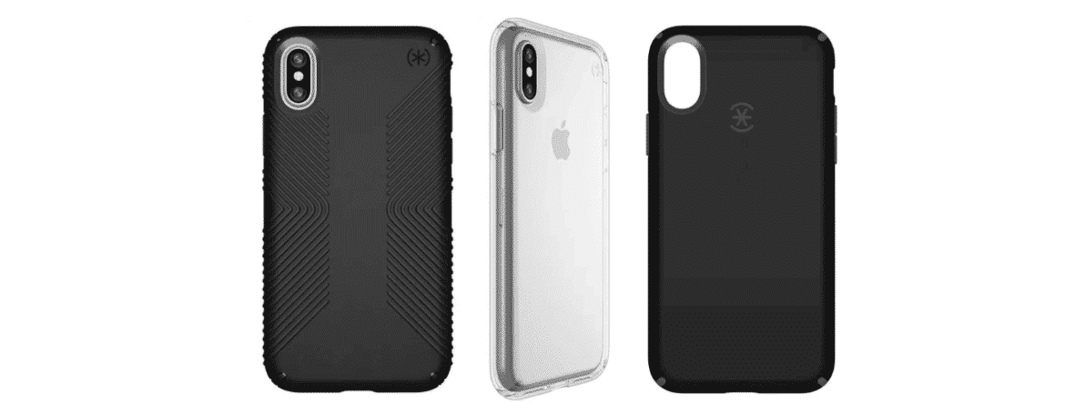 An image of a A sampling of Speck iPhone X Cases.