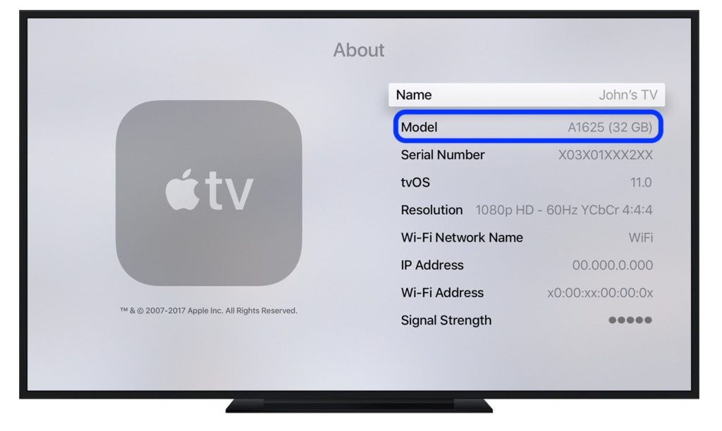 How To Find Apple TV Model Number