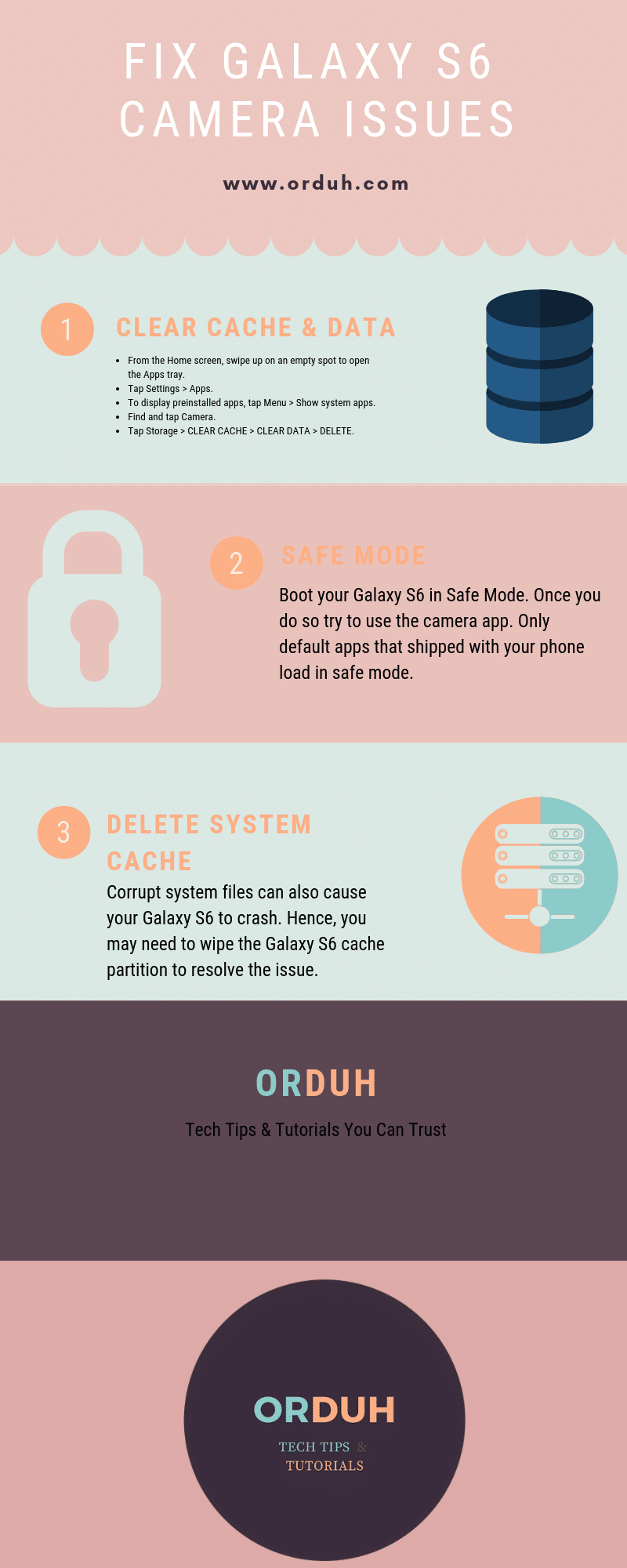Tips To Fix Unfortunately Camera Has Stopped Galaxy S6 - An Infographic