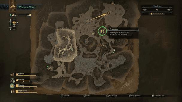 Monster Hunter World Wildspire Waste Grimalkyn Location