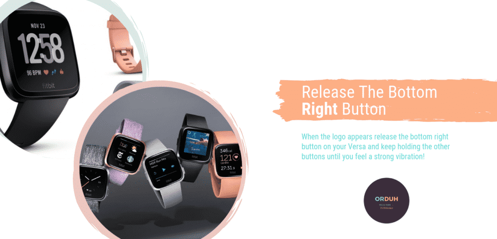 3 easy steps to factory reset Fitbit Versa - step 3