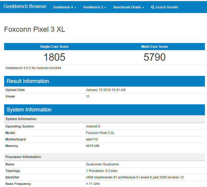 New Google Pixel 3 Lite XL running Snapdragon 710 appears on Geekbench