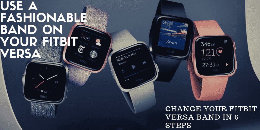 how to change the band on your Fitbit Versa