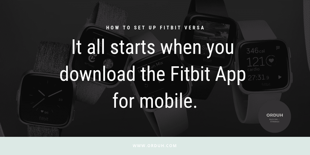 How To Set Up Fitbit Versa