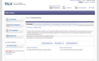 Talx Employee Portal
