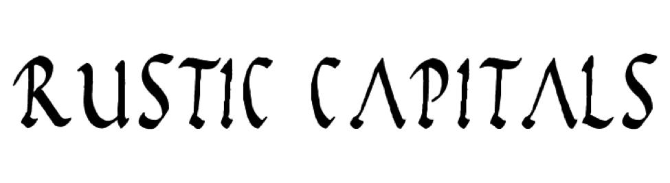 Rustic capitals